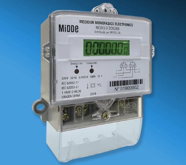 Medidor electrónico monofásico