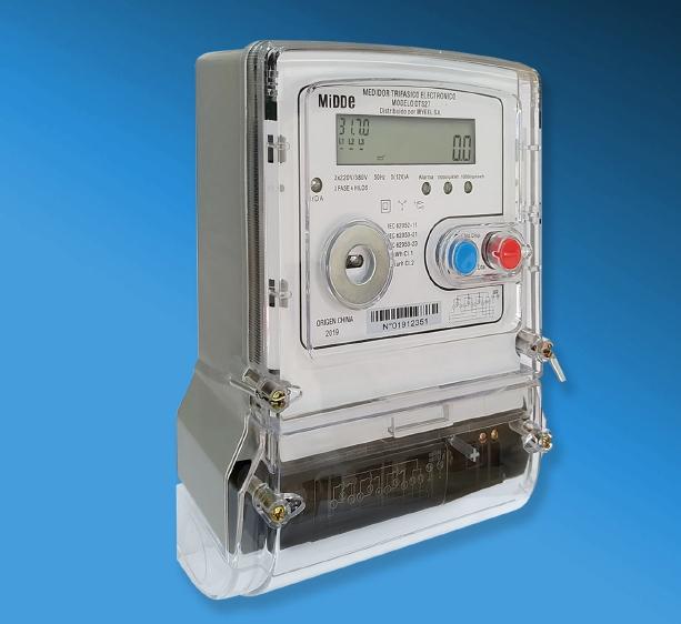 Medidor electrónico trifásico